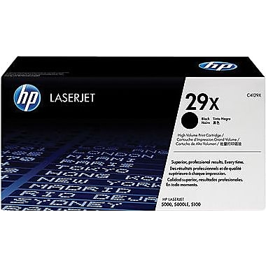 HP 29X Black Toner Cartridge (C4129X), High Yield