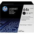 HP 64X Black Toner Cartridge (CC364XD), High Yield Twin Pack
