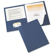 Avery(R) Two-Pocket Folders 47975, Dark Blue, Pack of 25