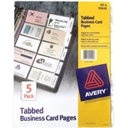 "Avery® Tabbed Business Card Page, Clear, 3 1/2"" x 2"", 100 Cards (25410)"