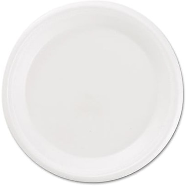 Boardwalk ® Non-Laminated Round Foam Plate, 8 7/8in.(Dia), White, 500/Carton