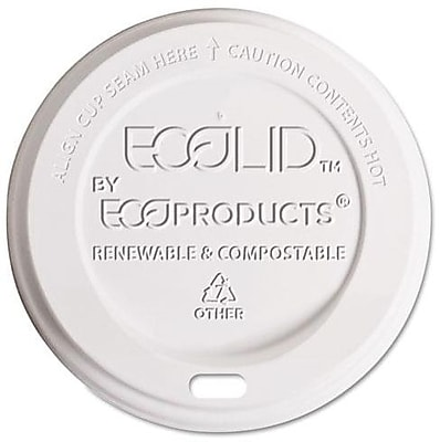 Eco-Products EcoLid Corn Plastic Hot Cup Lid for 8 oz. Hot Cups, Translucent, 800/Carton ECOEPECOLID8