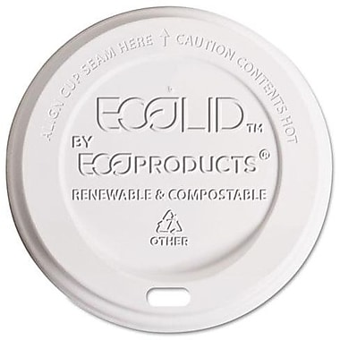 Eco-Products® EcoLid® Corn Plastic Hot Cup Lid for 8 oz. Hot Cups, Translucent, 800/Carton