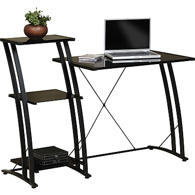 Sauder Studio Edge Tiered Desk, Black