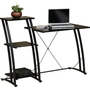 Sauder 408687 Tiered Computer Desk, Black
