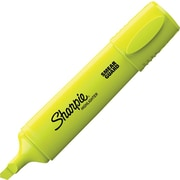 Sharpie® Blade Highlighters, Yellow, 12/Pack