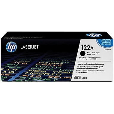 HP 122A Black Toner Cartridge (Q3960A), High Yield