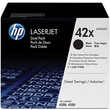 HP 42X Black Toner Cartridges (Q5942XD), High Yield, Twin Pack