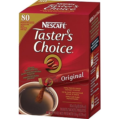 Nescafe® Taster's Choice® On The Go Instant Ground Coffee, Regular, .07 oz., 80 Packets