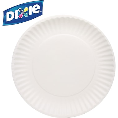 Dixie Paper Plates, 9in., White, 1,000/Case