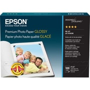 "Epson® Premium Glossy Photo Paper, Borderless, 4"" x 6"", 100-Pack"