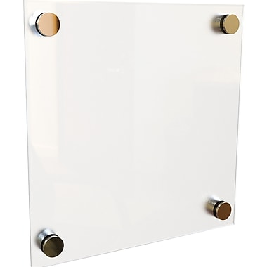 Best-Rite Enlighten Glass Dry Erase Boards, White, 1' x 1'