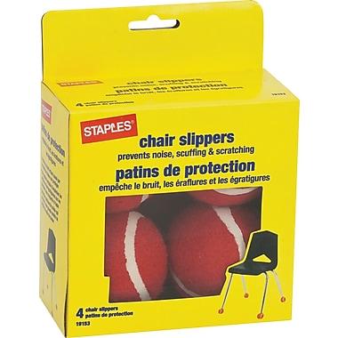 Staples® - Patins de protection pour fauteuils, paq./4, couleurs variées