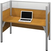 Bestar Pro-Biz Office System Simple Workstation, Full Wall, Cappuccino Cherry