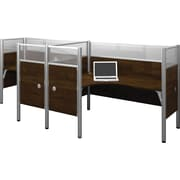 Bestar Pro-Biz Office System Double Side-by-Side Workstation, Additional Privacy Panels, Full Wall, Chocolate