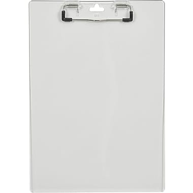 Staples® Plastic Clipboard, Clear, 9
