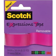 Scotch® Expressions Tape, Pink, Removable, 3/4x300