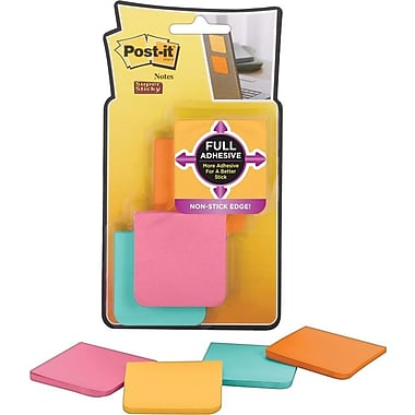 Post-it® Super Sticky Full Adhesive 2in. x 2in. Farmers Market Notes, 8 Pads/Pack