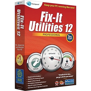 Avanquest Fix-It Utilities 12 Professional, 5-Users, Bilingual