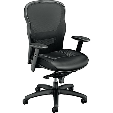 basyx ® VL700 Series Mesh Chairs Leather General Office, Black