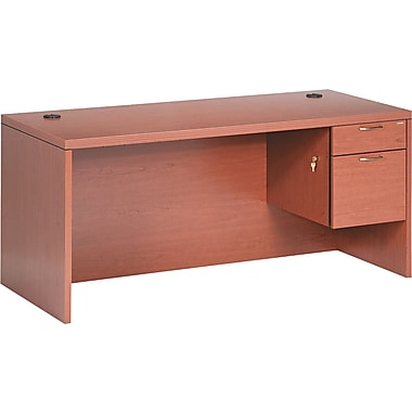 HON® Valido™ 11500 Series Right Pedestal Desk, 29 1/2in.H x 66in.W x 30in.D, Bourbon Cherry