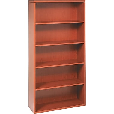 HON® Valido™ 11500 Series Bookcase, 71in.H x 36in.W x 13 1/8in.D, Bourbon Cherry