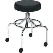 Safco® Fabric Lab Stool, Black