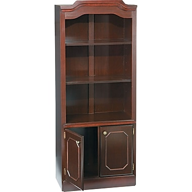 DMI™ Governors Bookcase With 2 Door, 74in.H x 30in.W x 14in.D, Mahogany