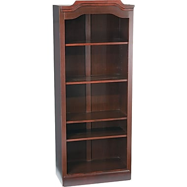 DMI™ Governors Traditional Laminate Bookcase, 74in.H x 30in.W x 14in.D, Mahogany
