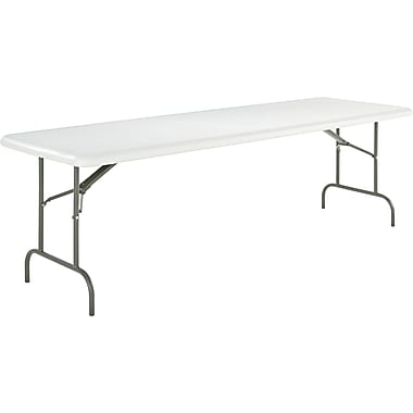 Alera® Folding Table Blow-Molded High-Density Polyethylene Platinum, 29in.H x 96in.W x 30in.D, 600 lbs.
