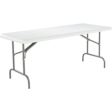 Alera™ Folding Table, Platinum, 29in.H x 72in.W x 30in.D