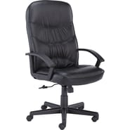 Basyx™ by HON® VL640 High-Back Leather Executive Chair, Black