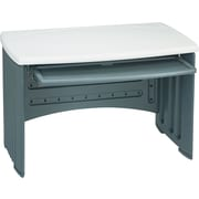 Iceberg ® Snapease Computer Desk, Charcoal Gray, Silver Top