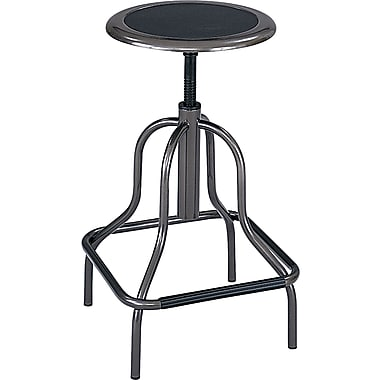 Safco ® Diesel Industrial Stools Leather Drafting, Black, 27in.H x 15in.W x 15in.D