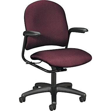 HON® Alaris™ 4220 Mid-Back Swivel/Tilt Task Chair, Burgundy