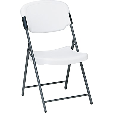 Iceberg 64003 Polyethylene Folding Chair, Platinum/White