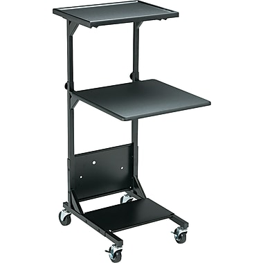 Balt® 20in.D Adjustable Height Projection Stand, Black