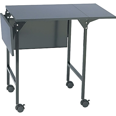 Safco® 26 3/4in.H x 20in. - 36in.W x 18in.D Machine Stand, Black