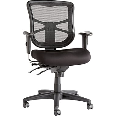 Alera Erix Mesh Fabric Managerial Chair With Casters, Black
