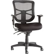 Alera ALEEL42ME10B Elusion Fabric Mid-Back Managers Chair with Adjustable Arms, Black