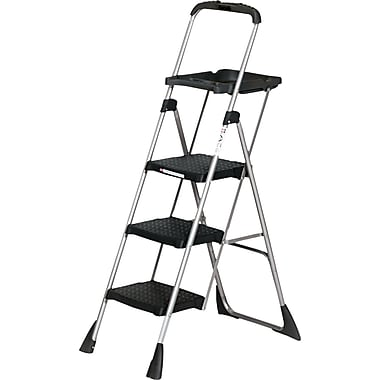 Cosco® Platform Step Stools Steel, Black, 55in.