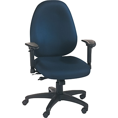 Basyx™ by HON® VL630 High Performance High-Back Fabric Task Chair, Blue