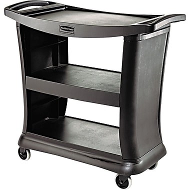 Rubbermaid ® Commercial Plastic Utility Carts Structural Foam, Black