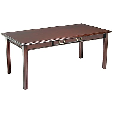 DMI™ Governors Solid Hardwood Table Desk, 30in.H x 72in.W x 36in.D, Mahogany