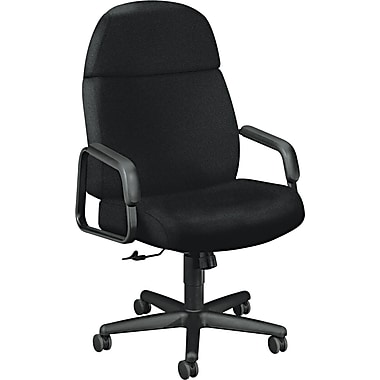 HON ® 3500 Pyramid High-Back Fabric Executive Chair, Black