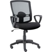 Alera Etros Mesh Swivel/Tilt Chair, Black