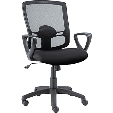 Alera ALEET42ME10B Etros Mesh Mid-Back Managers Chair with Fixed Arms, Black