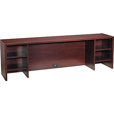 HON® 10500 Series Stack On PC Organizer, 22in.H x 72in.W x 14 5/8in.D, Mahogany