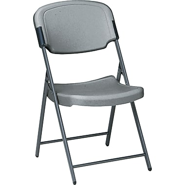 Iceberg® Erehtis™ Folding Chair, Charcoal