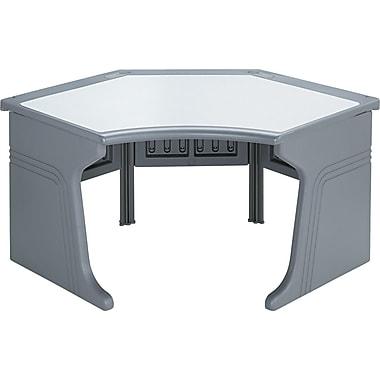 Iceberg® Aspira™ Modular Freestanding Corner Unit, 30in.H x 65in.W x 39in.D, Charcoal